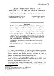 Educational interaction in distance learning: Analysis of a one-way ...