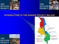 introduction to the hunger project malawi