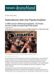 Spekulationen über eine Paprika-Koalition - Sagel, Rüdiger (Die ...
