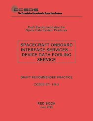 Draft Recommended Practice: CCSDS 871.1-R-2, Spacecraft ...