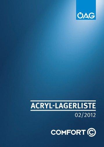ACRYL-LAGERLISTE