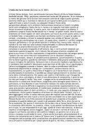 L'Italia che ha in mente (da Linus no. 8, 2001) Frittata Totale Globale ...