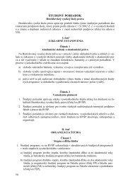 študijný poriadok pevš - Paneurópska vysoká škola