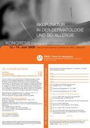 akupunktur in der dermatologie und bei allergie - Österreichische ...