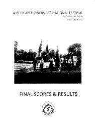 2011 Final Scores and Results - American Turners