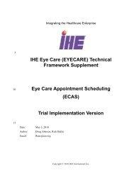 ECAS - IHE