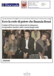 Ecco la corte di potere che finanzia Renzi - Comune di Firenze