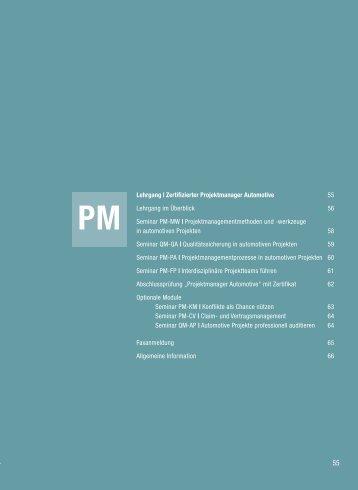 Lehrgangsprogramm - Jung + Partner Management GmbH