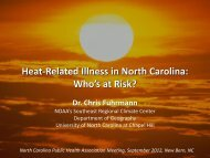 Heat-Related Illness in North Carolina - Southeast Regional Climate ...
