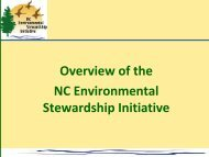 Overview of the Environmental Stewardship ... - NC Project Green