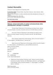 Allergic contact dermatitis to methyl aminolevulinate - PIEL-L ...