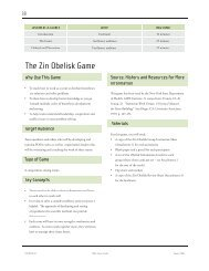 The Zin Obelisk Game - the National Quality Center