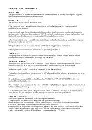 SDF godkendelses regler 2003 030307 - Selskabet for Dansk ...