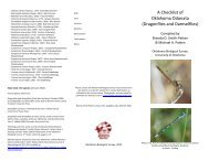ODONATA - Oklahoma Biological Survey - University of Oklahoma