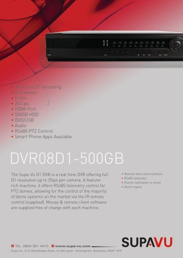 DVR08D1-500GB - Buythis