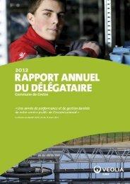 Rapport délégataire sur l'assainissement 2012 - Mairie de Cestas