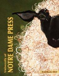 Fall 2013 Catalog - University of Notre Dame Press
