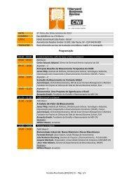 Programação A Cadeia de Valor da Bioeconomia - CNI
