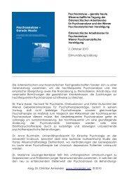 Psychoanalyse – gerade heute - Mag. Dr. Christian Arnezeder
