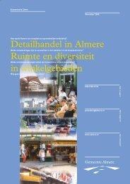 Detailhandel in Almere Ruimte en diversiteit in ... - Gemeente Almere