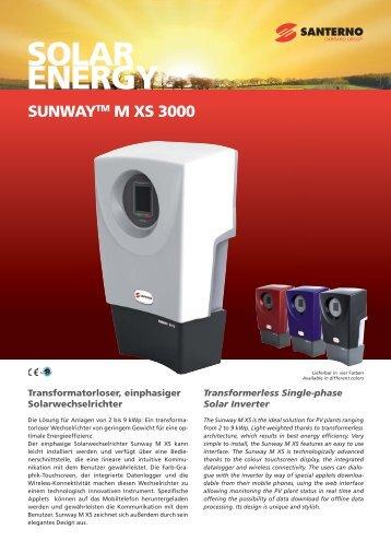 SUNWAYTM M XS 3000 - Santerno