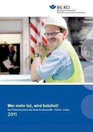 Broschüren - Berufsgenossenschaft Rohstoffe und chemische ...