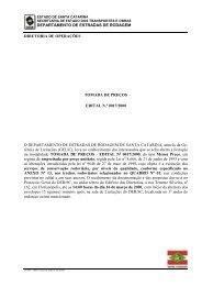 Contrato de Gestão da Conservação Rodoviária, Estado ... - Zietlow