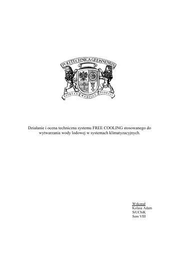 Działanie i ocena techniczna systemu FREE COOLING ...