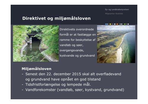 Vandplaner, vandrammedirektiv og punktkilder - ATV - Jord og ...
