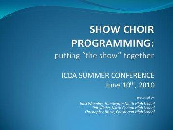 Show Choirs – Powerpoint slides