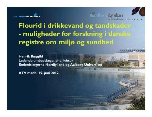 Henrik Boeggild - ATV - Jord og Grundvand
