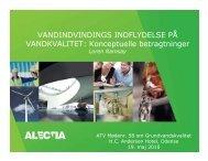 Konceptuelle betragtninger - ATV - Jord og Grundvand