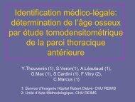 Identification médico-légale: détermination de l'âge osseux par ...