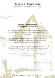 Festtage - Langens Turmstube