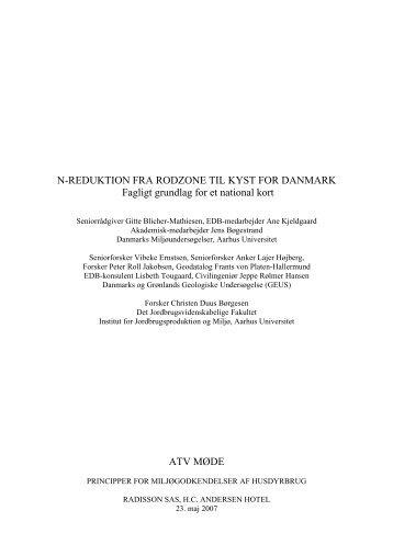 n-reduktion fra rodzone til kyst for danmark - ATV - Jord og Grundvand
