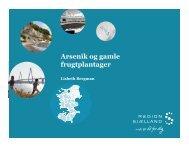Arsenik og gamle frugtplantager - ATV - Jord og Grundvand