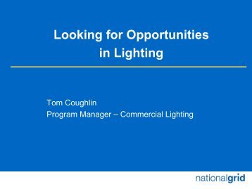 Looking For Opportunities In Lighting - National Grid