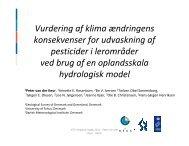 Vurdering af klima ændringens konsekvenser for udvaskning af ...