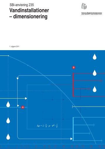 Vandinstallationer - dimensionering - Byggecentrum