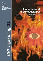 DBI vejledning 21 Anvendelse af motorredskaber ... - Byggecentrum