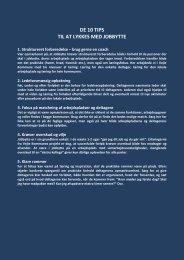 DE 10 TIPS TIL AT LYKKES MED JOBBYTTE - Personaleweb