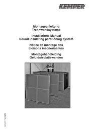 Montageanleitung Trennwandsysteme Installations ...  - Kemper