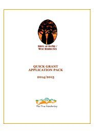QUICK GRANT APPLICATION PACK 2012/2013