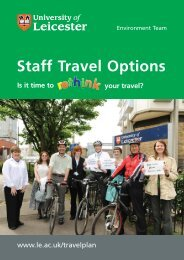 Staff Travel Options Booklet - University of Leicester