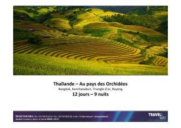BKK - Circuit Thailande 12 jours - Prometour
