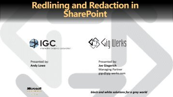 Redlining and Redaction in SharePoint - Gig Werks