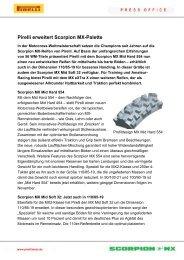 Pirelli erweitert Scorpion MX-Palette - SKOOX.at