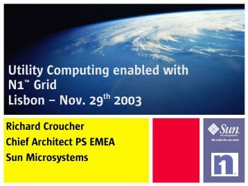 Utility Computing Enabled with N1 Grid - Informatix Solutions