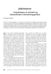 betydningen af netværk og virksomheders ... - Nyt om Arbejdsliv