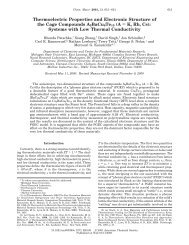 Thermoelectric Properties and Electronic Structure of the Cage ...